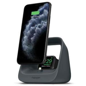 Spigen S316 2in1 Ladestation für iPhone / Pods / Apple Watch Charcoal Blau