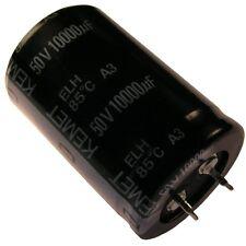 CONDENSATORE KEMET ELH Elko 10000uf 50v 30x45mm 2 pin snap-in 85 ° C rm10 854368