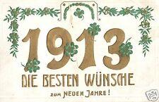 12663/ Prägekarte Glückwunsch zum Neuen Jahr 1913