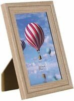 Picture Frames 3 Pack Oak Rustic Woodgrain Photo Frames with Glass Front for wal