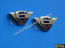 PAIR V6 FORD ESCAPE EXPLORER EXPEDITION DOOR REAR EMBLEM BADGE FENDER GENUIN NEW