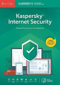 KASPERSKY INTERNET SECURITY 2021 MULTI-DEVICE 3 USER / 1 YEAR | UK RETAIL
