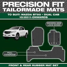 Mazda BT50 Dual Cab OCT/2011-On Custom Moulded Rubber Black Car Floor Mats