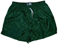 Don Alleson Dark Green Checker Nylon Soccer Shorts - Men's 2XL
