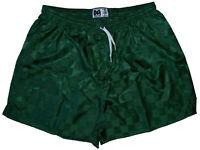 Don Alleson Dark Green Checker Nylon Soccer Shorts - Men's 2XL