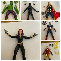 LOT OF 6 Marvel Legends 80th Captain America Thor Iron Man Hulk Widow Panther