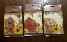3 Pkg Wall Border Sunflowers Birdhouses & Ivy Rustic Country Farmhouse wallpaper