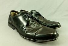 Hugo Boss Leather Dress Shoes Oxford Lace Up Black Brown 10 Italy
