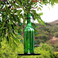 BlueDot Trading Green Wine Bottle Seed Bird Feeder Great Gift Ships Free From Us