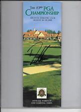 DAVID TOMS 2001 PGA CHAMPIONSHIP WINNER AUTOGRAPHED PROGRAM FROM TOURNAMENT