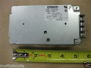 Omron S8E1-02524A Power Supply 115VAC Input 24VDC 1.1A Output