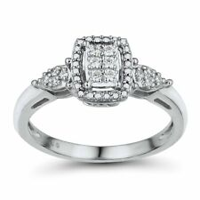 1/10 ct Diamond Composite Engagement Ring in 10K White Gold