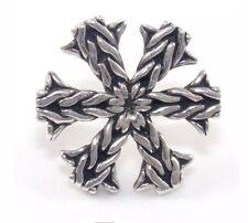 DESIGNER JOHN HARDY Sterling Silver SNOWFLAKE Rope Lapel Pin LQ30-G