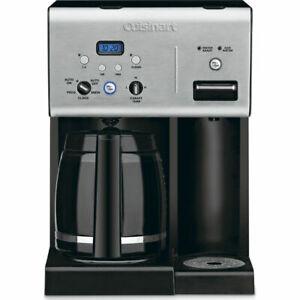 Black Cuisinart CHW-12 Coffee Plus 12-Cup Programmable Coffeemaker w/ Hot Water