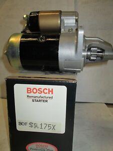 SR175X Bosch Fact Reman Starter DD 9T CCW Subaru DL,GL 1.6,1.8L 1980-87 0.8kw