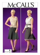 Sew & Make McCall's M7017 SEWING PATTERN - Womens Fitted TOPS KNEE SKIRTS 6-14