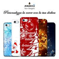 Custodia Cover Natale Feste Auguri Per Apple iPhone 4  5 6 7 8 X XR 11 Plus SE