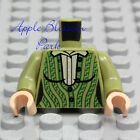 NEW Lego Female Olive GREEN MINIFIG TORSO Girl White Shirt Blouse Sweater Jacket