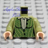 Black LEGO Minifig Torso Police Jacket /'1337/' on Collar Silver /'JCF/' Badge