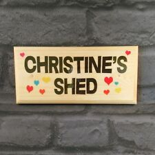 Personalised Shed Plaque / Sign / Gift - Hearts Ladys Mum Nan Workshop She-Shed