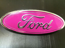 "NEW Ford Front Grille Pink Oval  7"" Emblem Badge  F81Z-8213-AB F150 F250 F350"