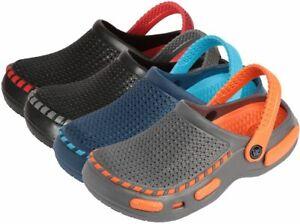 Tipi Toe Boys Mesh Clogs Size 12 - 4 Orange, Red, Navy, Lime Green