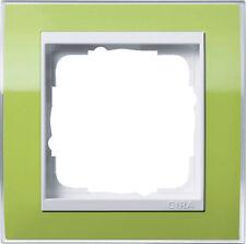 Gira Rahmen Abdeckrahmen Event 1fach 0211743 grün klar / reinweiß