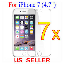 """7x Clear LCD Screen Protector Guard Cover Shield Film For Apple iPhone 7 (4.7"""")"""
