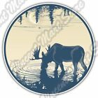 "Elk Deer Moose Hunting Hunter Hunt Car Bumper Window Vinyl Sticker Decal 4.6"""