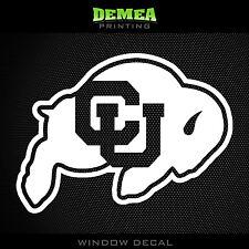 """Colorado Buffaloes - NCAA - White Vinyl Sticker Decal 5"""""""