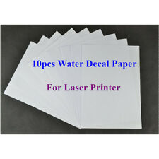 10x A4 Laser Clear Water Slide Decal Paper  Waterslide Transfer Paper