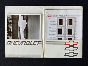 """1987 Chevrolet Express Press Kit Photos + Poster """"Your Own Private Bullet Train"""""""