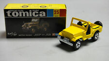 VINTAGE TOMICA 25 MITSUBISHI JEEP H-J58 MADE IN JAPAN RARE