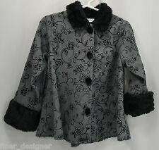 NEW CACHCACH Cach SZ 4T Boutique faux fur Girl's light coat jacket swing top $92