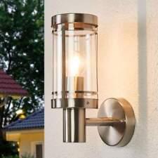 Außenwandleuchte Djori Edelstahl Lampenwelt Wandlampe Außen Garten Einfahrt E27