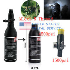 New 0.22L Paintball Tank High Compressed Air Bottle w/ 4500psi Regulator For Pcp