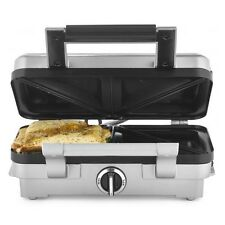 Cuisinart Sandwich Toast Maker Non Stick Plates 1000W Stainless Steel Silver New