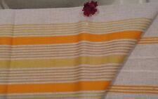 New Vintage Square Striped Tablecloth Cover 100% Pure Linen Handmade Home Decor
