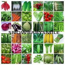 45VARIETY HEIRLOOM VEGETABLE GARDEN SEEDS NON GMO / HYBRID ORGANIC SURVIVAL NEW