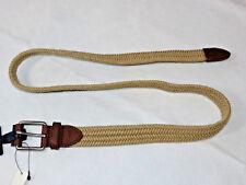 Polo Ralph Lauren Mens 40 / 105 Deckhand Braided Belt Natural Leather