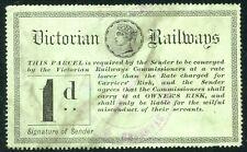 VICTORIA 1d VICTORIAN RAILWAYS RAILWAY PARCELS STAMP REVENUE FISCAL DUTY TAX
