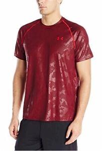 Under Armour Men's Tech Patterned Novelty Shiny Shorts Sleeve Tee