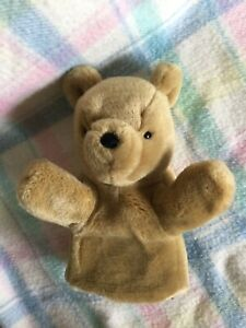 "Gund Disney Classic Pooh Bear Winnie The Pooh Plush 9"" Hand Puppet EXC"