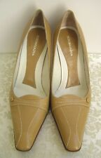 BCBGMAXAZRIA - NEW All Leather Pump Heels Tan 9B