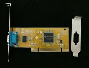 SUNIX 1-port Serial RS-232 PCI to COM Port with Low profile bracket COMCARD-1P