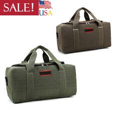 Travel Luggage Bag Men Military Canvas Leather Gym Duffle Shoulder Handbag US