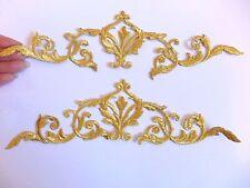 8 Oro Trim Patch elemento Floreale Applique Patch ferro sul Sew Motivo Da Cucire -1