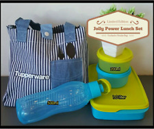 TUPPERWARE Jolly Power Lunch Box Set with Exclusive Edition Denim Tote Bag