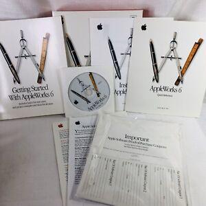 AppleWorks 6 For Mac OS Version 6.0 Installation CD & Manuals 2000 Apple Mint