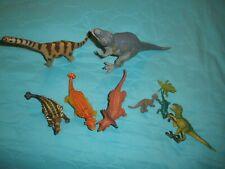 Lot of 8 Schleich SAFARI DINOSAURS T-REX Brachiosaurus triceratops